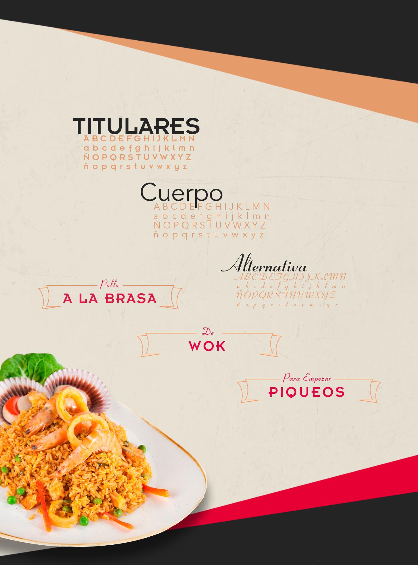 Tipografía Restaurante Tayta