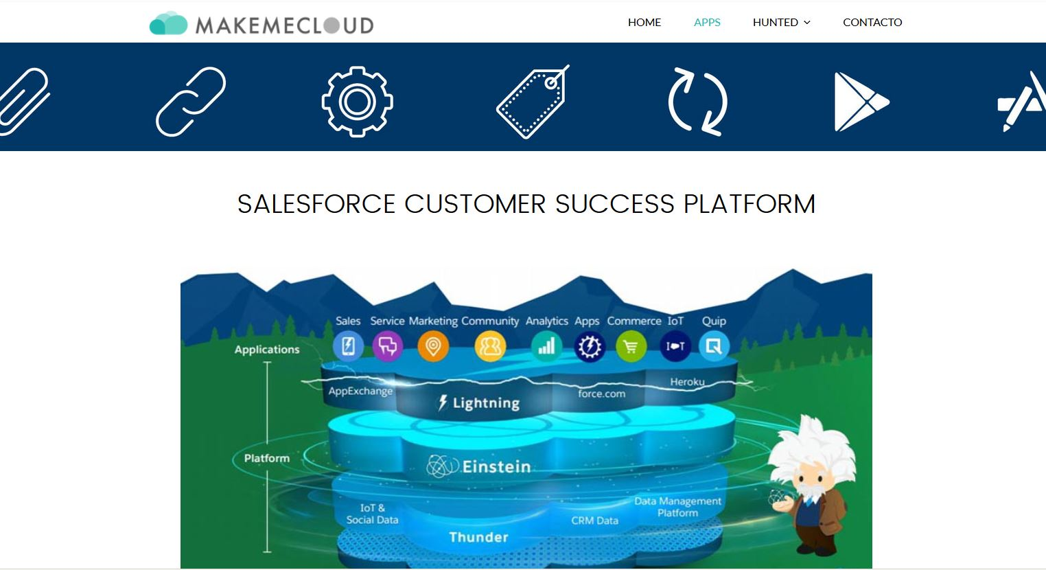 Diseño web Makemecloud
