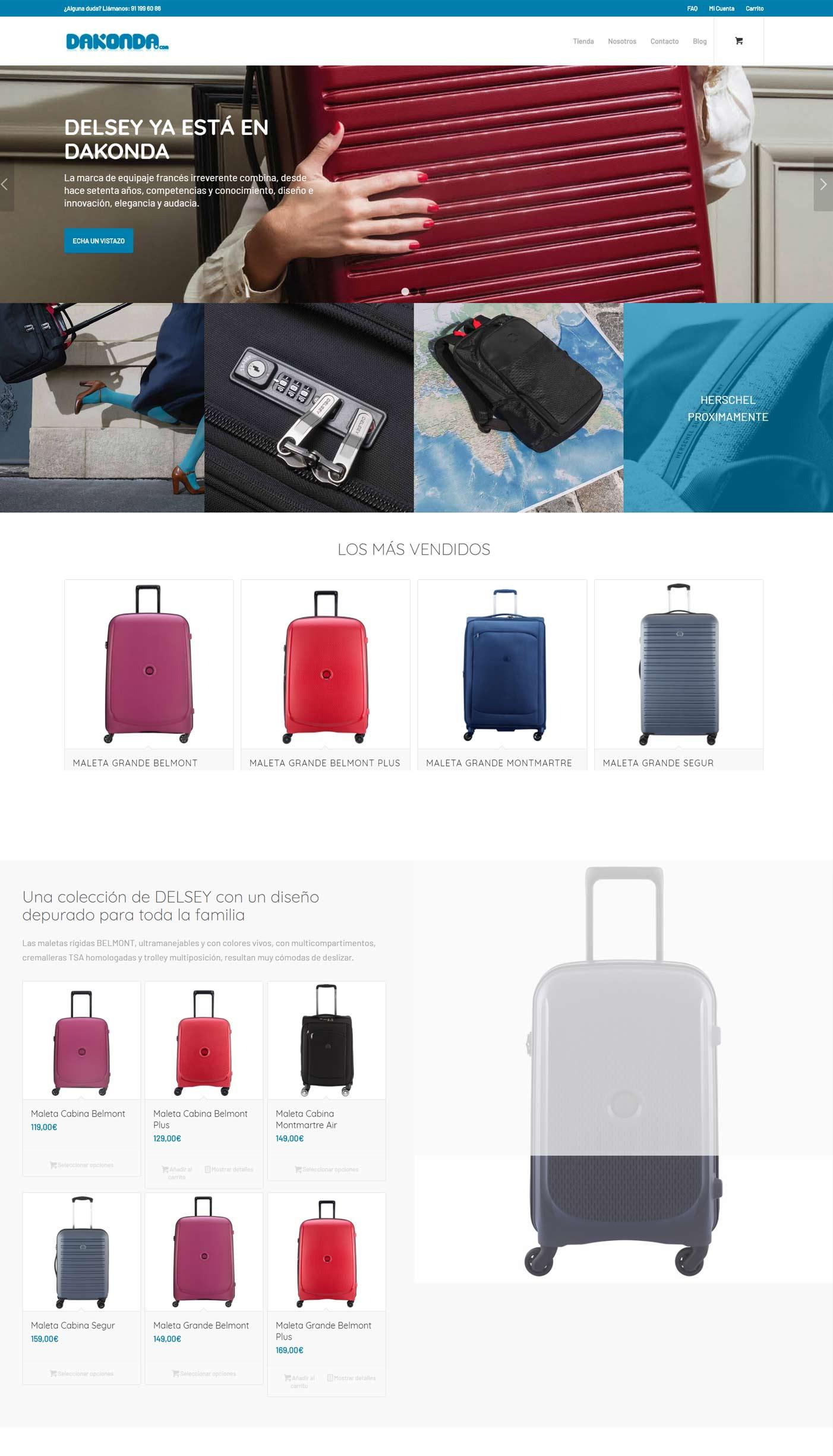 Diseño ecommerce Dakonda