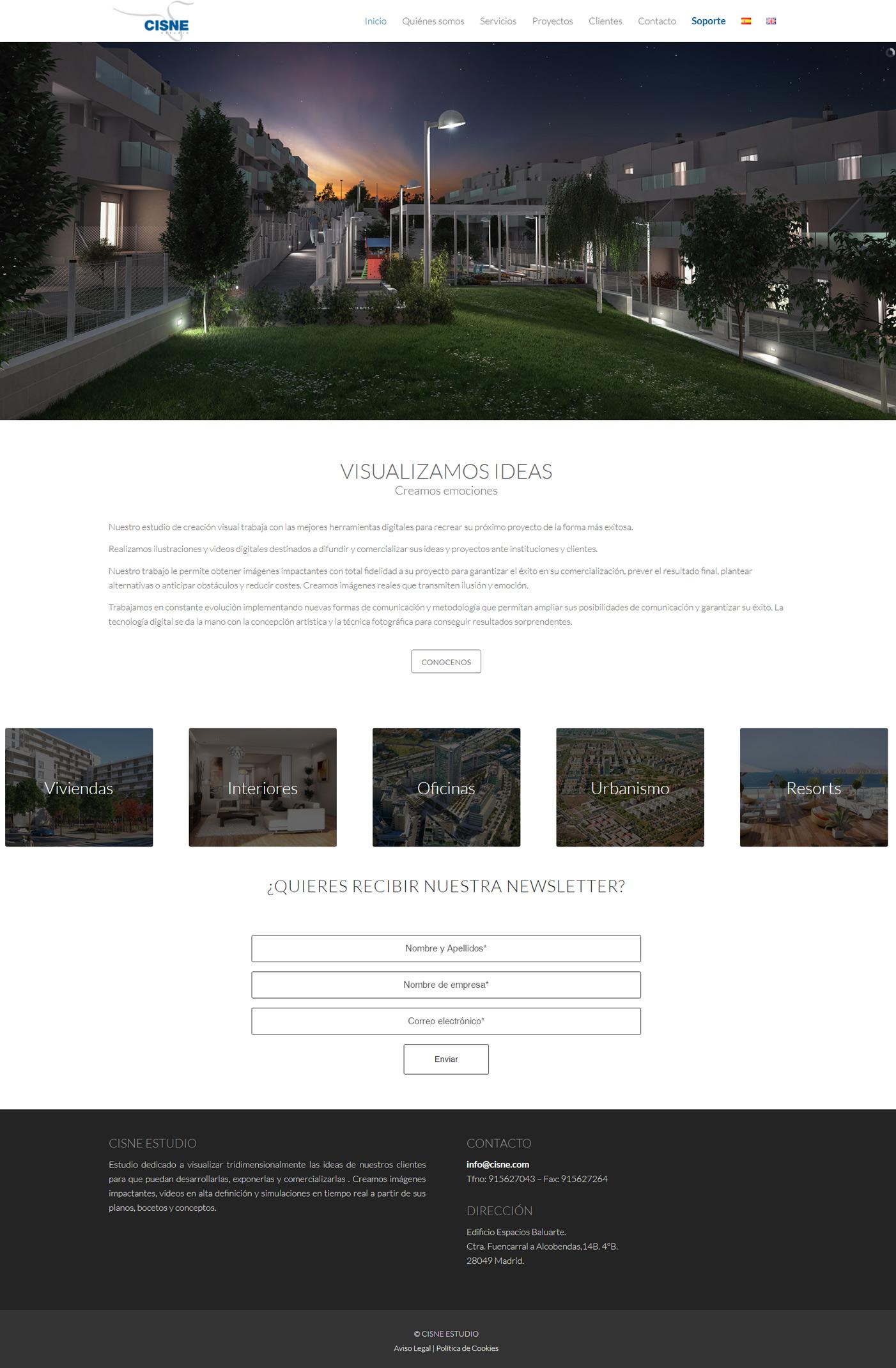 Diseño web Cisne Estudio