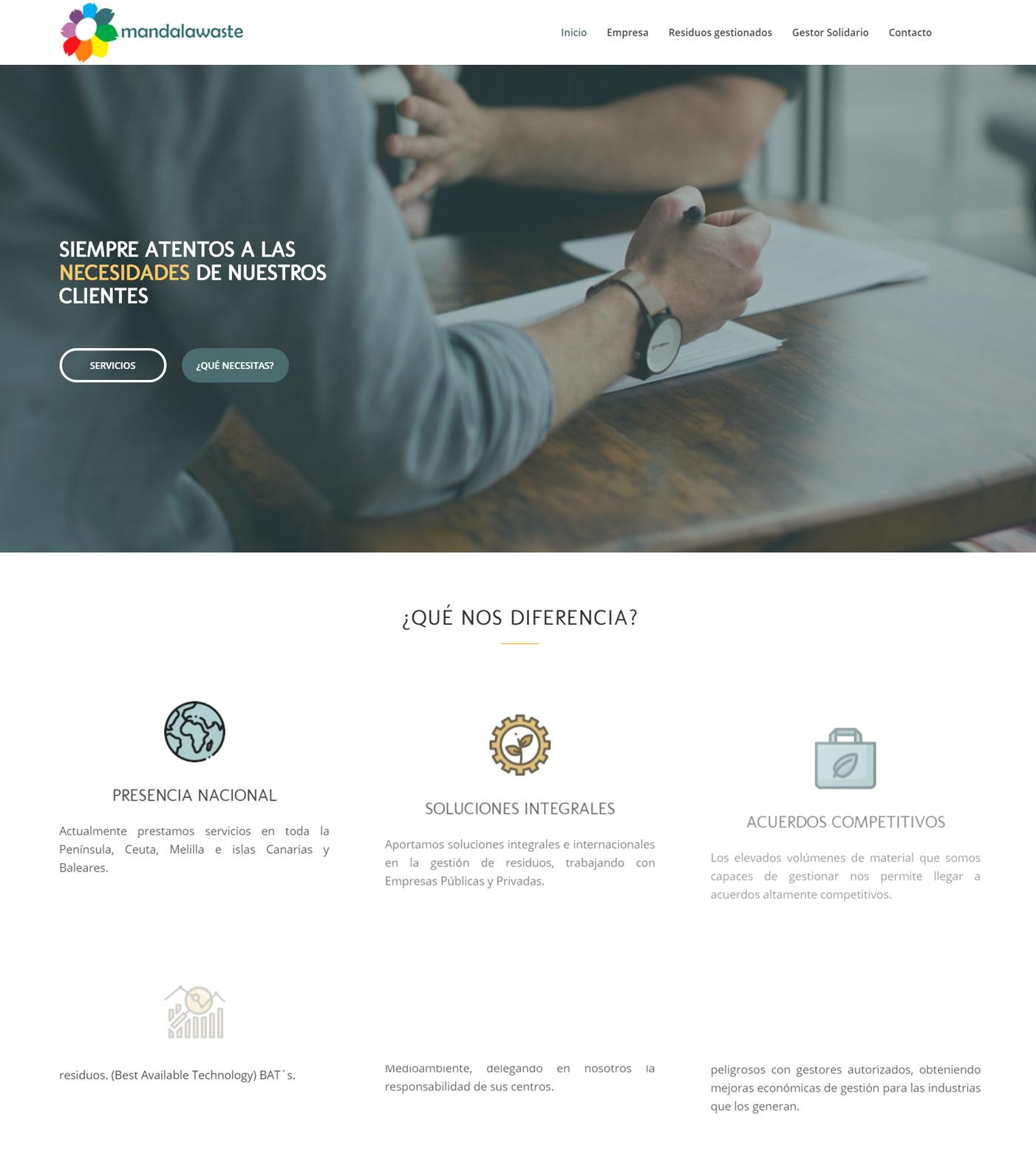 Diseño web Mandalawaste